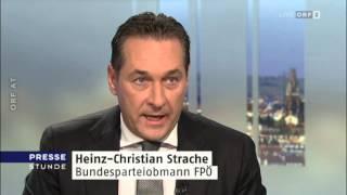 Heinz-Christian Strache (FPÖ) zur Flüchtlingskrise