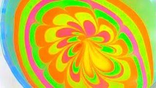 Water Marble Nail Art: Sparkling Neon Flower Nails Thumbnail