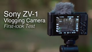 New Sony ZV-1 Vlogging Camera | First Look Test