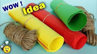 Wall Hanging Making at Home || Best use of Paper and jute for making wall hanging || DIY Room Decor