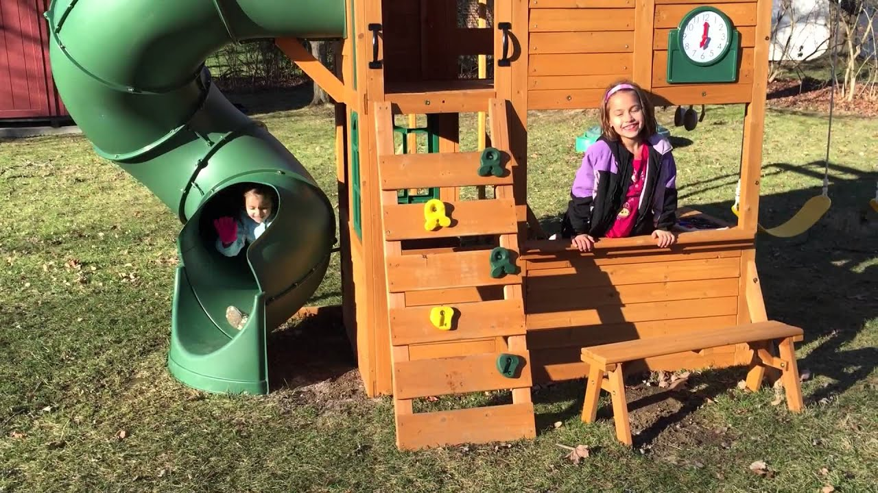 Backyard Playset Reviews big backyard summerlin playset review - youtube