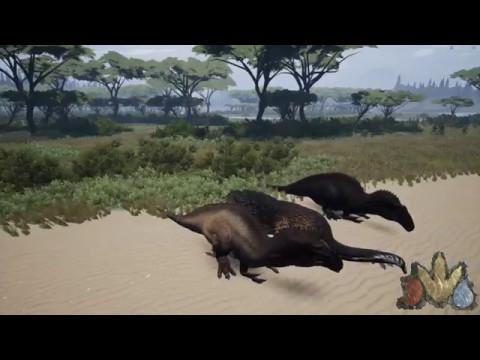The Isle - Acrocanthosaurus Realism pair survive Terra Vitae