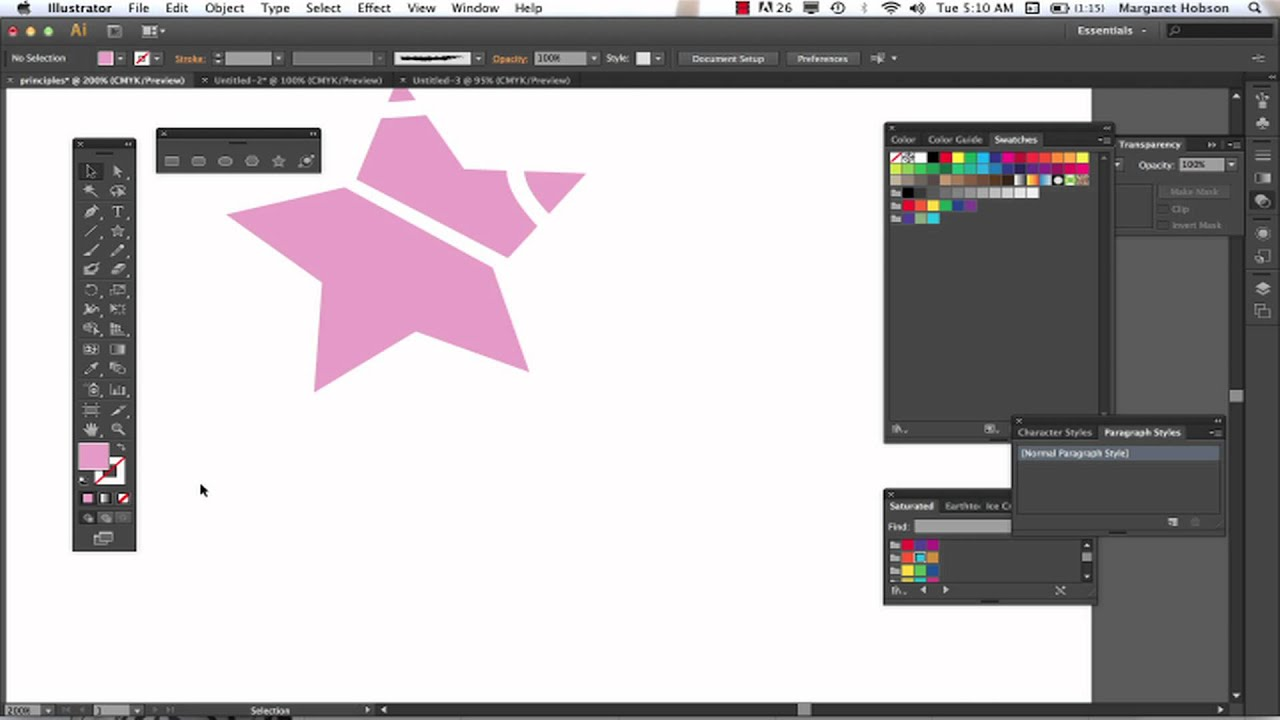 The Knife, the Scissors and the Eraser in Illustrator CS6