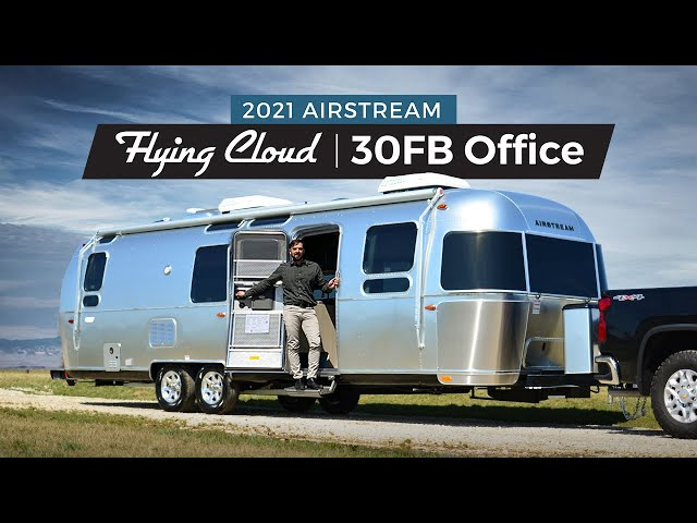 Working from the Road Full Time? 2021 Airstream Flying Cloud 30FB Office Travel Trailer