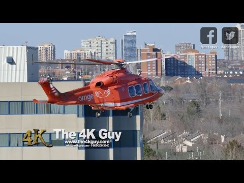 Mississauga: Medevac chopper lands & takes off at hospital 4-14-2016