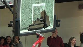2013 Metro State Opponent Colorado Mines Trevor Wages breaks backboard on dunk | MetroStateAthletics