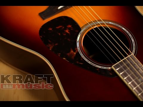 Yamaha LL16 ARE Handcrafted Acoustic Guitar Demo