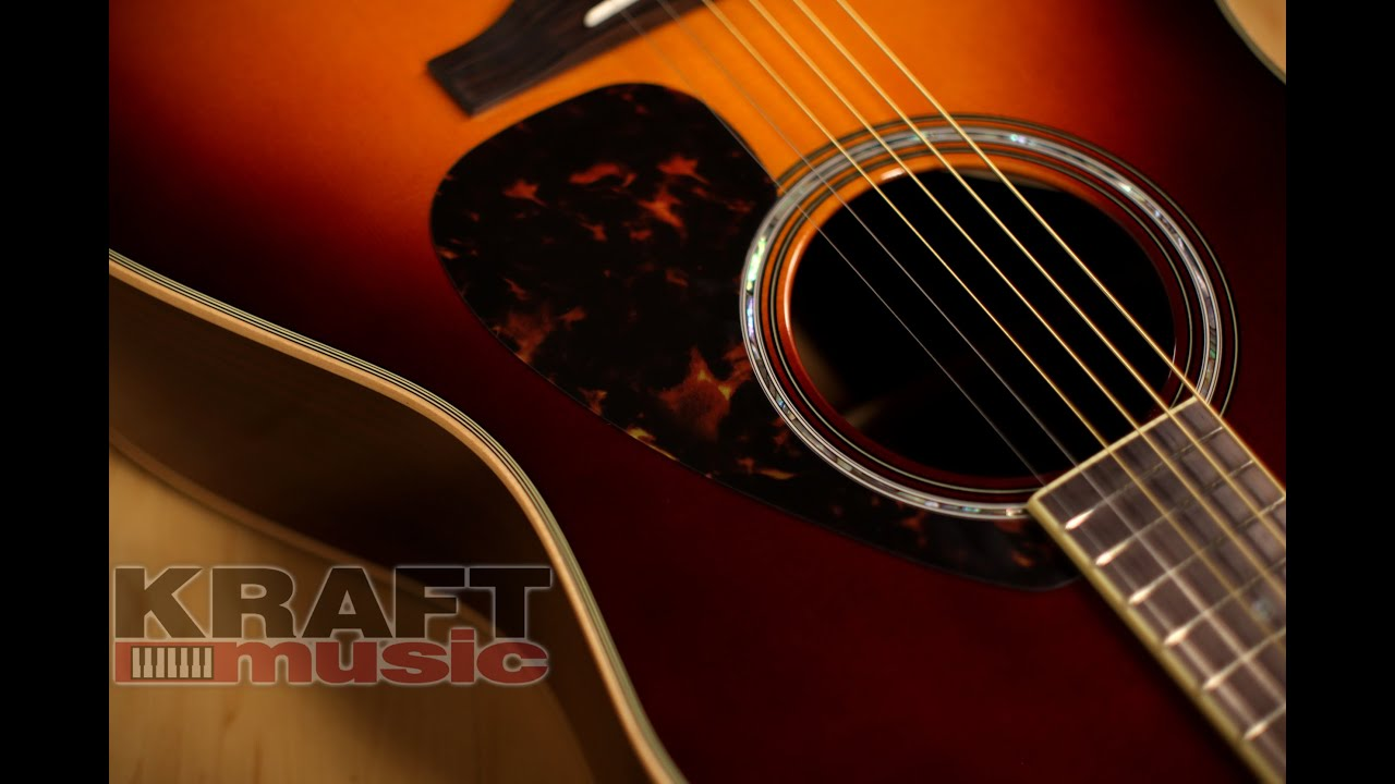 yamaha ll16 are handcrafted acoustic guitar demo youtube. Black Bedroom Furniture Sets. Home Design Ideas
