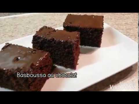 recette-basboussa-au-chocolat-/-gâteau-au-chocolat-sans-farine