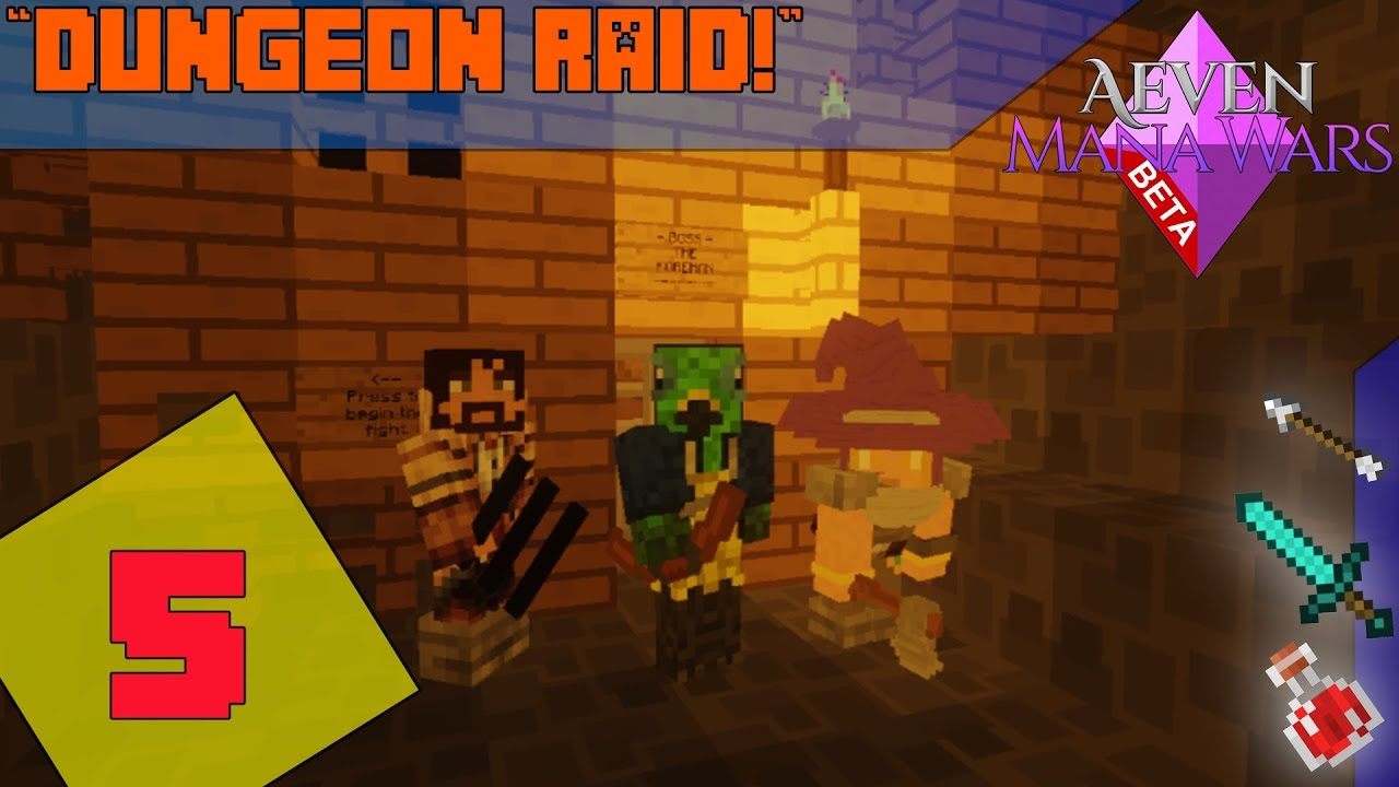 minecraft mmorpg server aeven mana wars dungeon raid ep 5