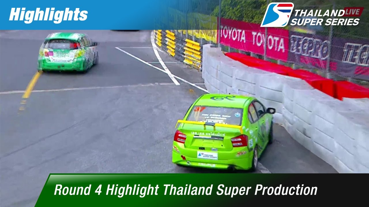 [TH] Highlights Thailand Super Production : Round 4 @Bangsaen Street Circuit,Chonburi