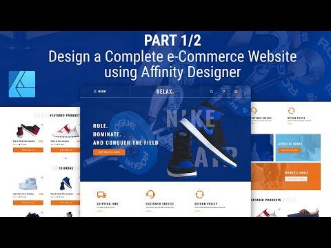 Part 1/2 - Design A Complete E-Commerce Website Using Affinity Designer