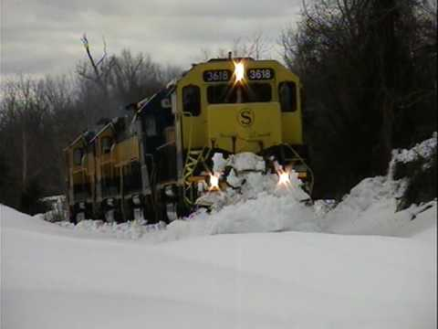 "Thumbnail: ""SNOW GOOD!"" NYS&W SU99 Plows and removes trees on Norfolk Southern's Hudson Secondary"