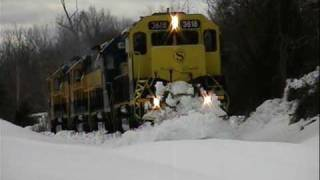 """SNOW GOOD!"" NYS&W SU99 Plows and removes trees on Norfolk Southern"