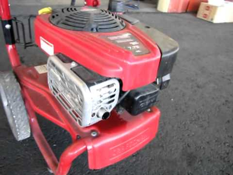 lot 111 craftsman perfect mix pressure washer youtube