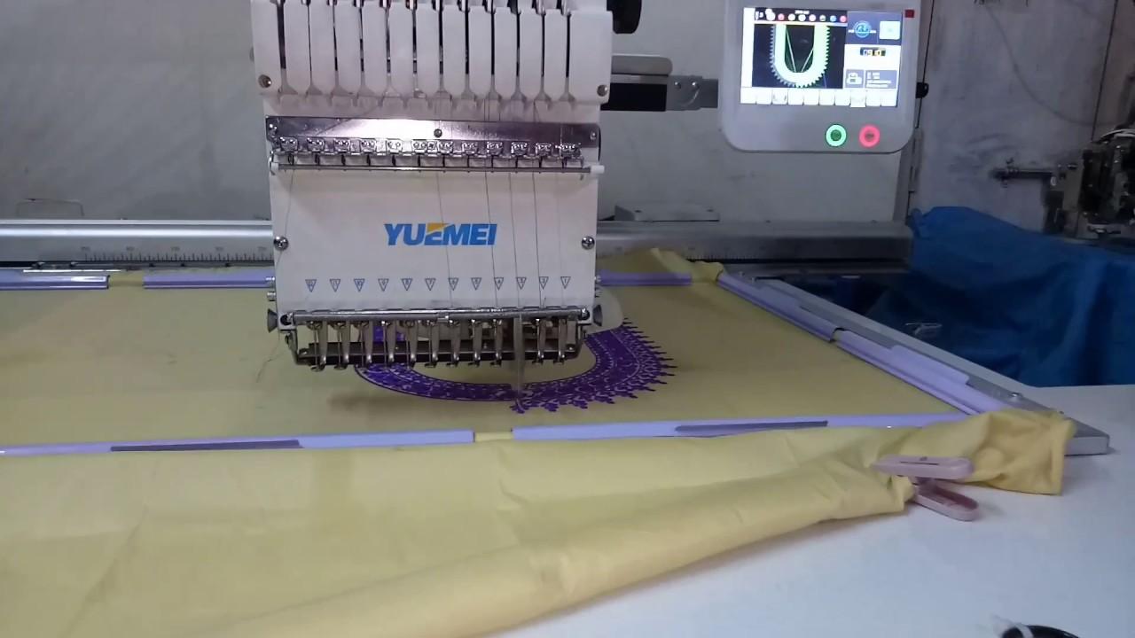 Blouse work on YUEMEI single head 12 neddil embroidery