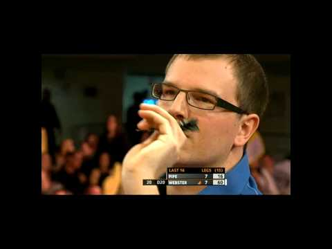 Pipe is angry at the crowd - Players Championship Finals 2011