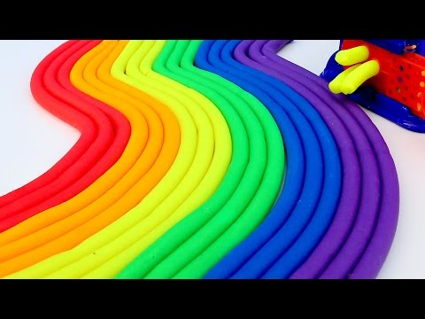 Modelling Clay Rainbow Play Doh Fun and Creative For Children Learn Colors Clay Kids Playing