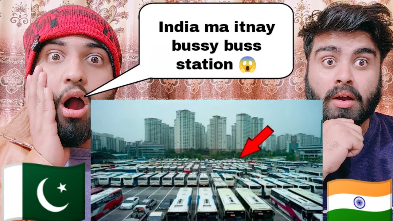 Top Busiest Bus Terminals In India Shocking Reaction By|Pakistani Bros Reactions|