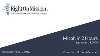 Micah in 2 Hours