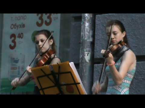 Beautiful Girls Play The Violins.