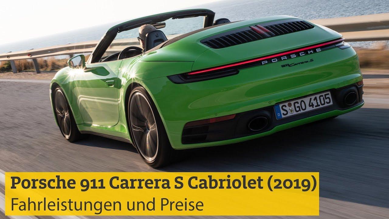 Porsche 911 Carrera S Cabriolet 2019 Fahrleistungen Und Preise Adac Youtube