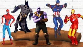 슈퍼히어로 쇼파 위에서 댄스 파티 해요 ! Five superheros jumping on the bed | 말이야와아이들 MariAndKids