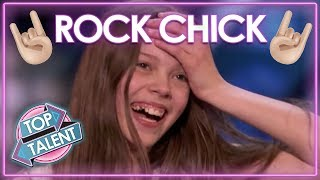 Rock Chick Courtney Hadwin's America's Got Talent Journey! | Top Talent