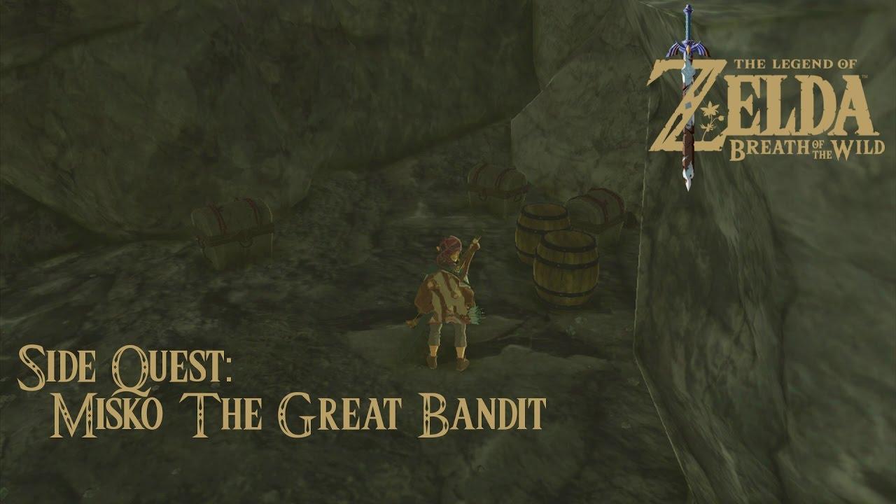 Misko The Great Bandit Zelda >> Zelda BoTW Misko The Great Bandit Side Quest - YouTube