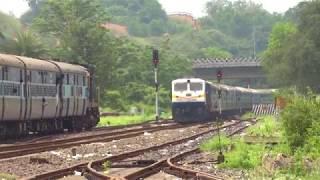 [IRFCA] 12510/Guwahati-Bengaluru Express crossing with Dekargaon Intercity at Agthori!!! thumbnail