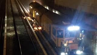 Rails repair in New York Subway