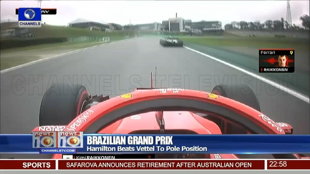 Hamilton Beats Vettel To Pole Position In Brazilian Grand Prix 10/11/18 Pt.4 |News@10|