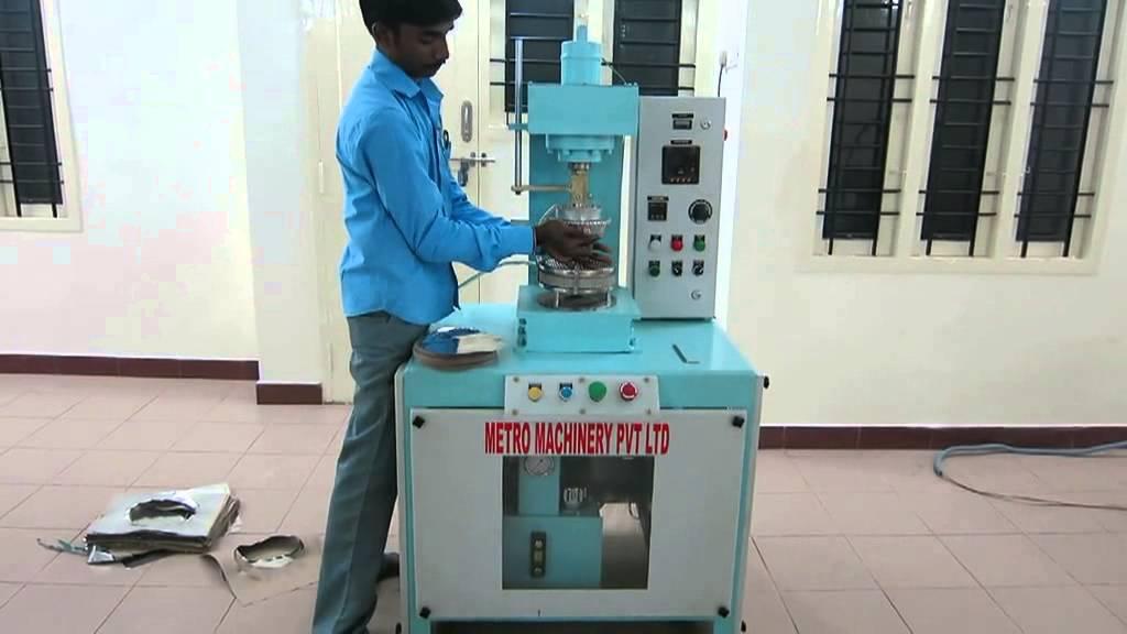 Semi Automatic paper plate making machine +91 9962648941