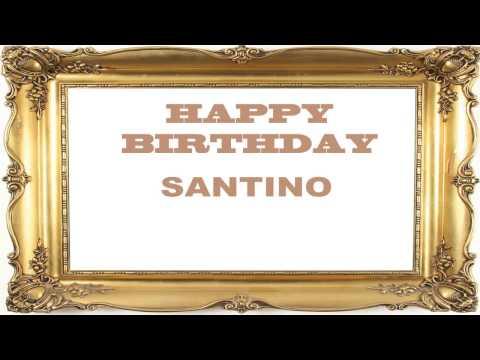 Santino   Birthday Postcards & Postales - Happy Birthday