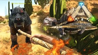 ARK: Scorched Earth - MORELLATOPS TAMING FAIL | Scorched Earth Gameplay [4]