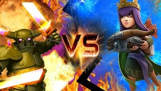"CLASH OF CLANS - ARCHER QUEEN VS PEKKA! ""HOLY SHIT"" CLASH OF CLANS FUNNY MOMENTS + TROOP RAIDS!"