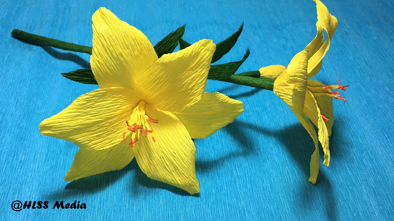 How To Make Origami Lily Crepe Paper Flower Easy And Fast Step By