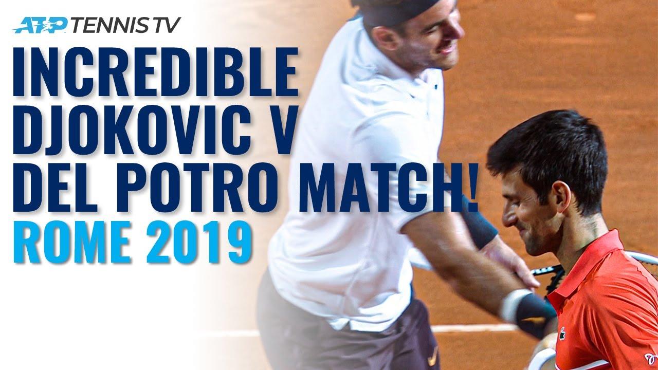 Incredible Djokovic vs Del Potro Match!   Rome 2019 Highlights