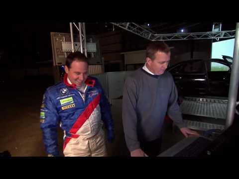 Guest presenter, Paul Mercurio test drives the latest in car simulator technology
