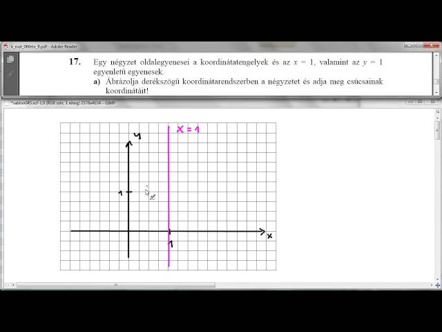 17/a Feladat - Koordináta-geometria