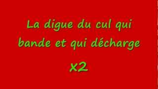 La digue du cul - Paroles