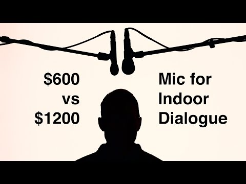 $600 vs $1200 Microphone for Indoor Dialogue: Blind Comparison