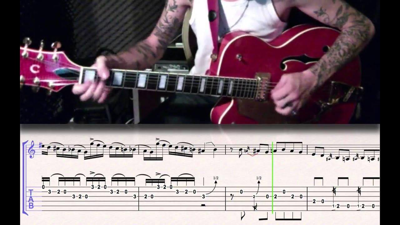 Stray Cats Runaway Boys Guitar Tabs Youtube