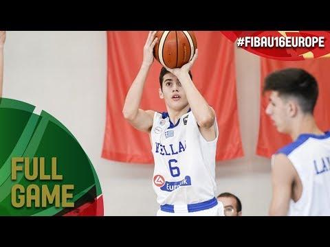 Greece v Belarus - Full Game - FIBA U16 European Championship 2017 - DIV B