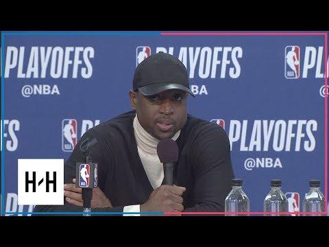 Dwyane Wade Postgame Press Conference | Heat vs 76ers - Game 2 | April 16, 2018 | 2017-18 NBA Season