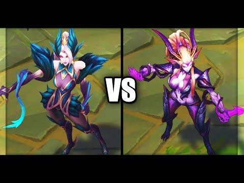 Coven Zyra vs Dragon Sorceress Zyra Epic Skins Comparison (League of Legends)