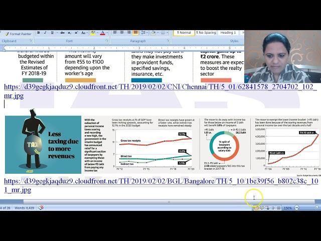Interim Budget 2019 | Budget 2019 | Current Affairs  by Mrs Bilquees Khatri