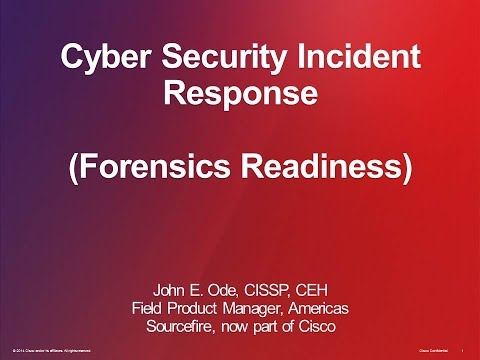 2014 Cyber Security Session 24 - Cyber Security Incident Response
