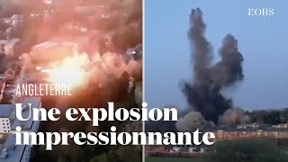 La police fait exploser une bombe de la Seconde Guerre mondiale en Angleterre