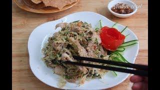 Cách làm gỏi bê tái mè, thịt dê tái mè, không bị hôi, thơm và rất đặc sắc || Natha Food